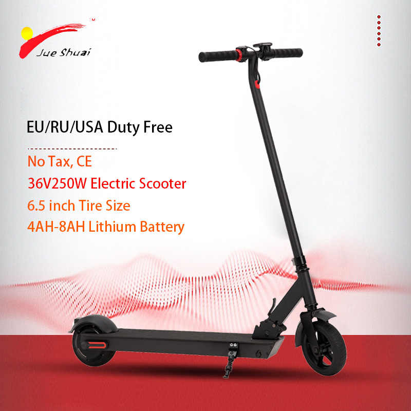 "36V Scooter Electric 7.5KG Light 6.5"" Motor Wheel with Battery Adult Foldable Patinete Electric Skateboard Kick E Scooter"