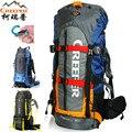 Профессиональный водонепроницаемый походный рюкзак CREEPER, оправа для скалолазания, походная посылка, большой объем 60 л, 15 цветов
