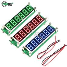 Rojo verde azul 0,1 a 65MHz RF contador de frecuencia de señal DC 8V ~ 15V con pantalla LED Digital Cymometer Meter Tester