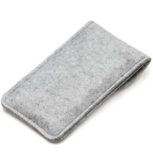 Image 3 - Lã feitas à mão Sentiu Carteira Chiqueiro Para o iphone 8 Plus 5.5 polegada case Para iPhone 6S 7 8 4.7 polegada sacos de sacos de telefone celular Tampa Da caixa clara