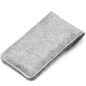 Image 3 - Шерстяной войлочный кошелек Sty ручной работы для iPhone 8 Plus, чехол 5,5 дюйма для iPhone 6S 7 8 4,7 дюйма, сумки на мобильный телефон, прозрачный чехол