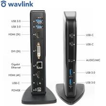 Wavlink USB C Kép HDMI 4K Đa Năng Đế Cắm Gigabit Ethernet Với USB3.0 Cổng Cấp Nguồn Gương Video Trực Tuyến công Việc