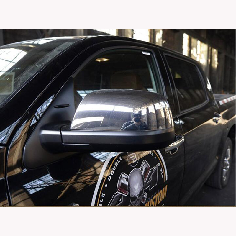 Otomobiller ve Motosikletler'ten Lamba Davlumbazları'de Toyota Tundra 07 için to19 ABS lehçe krom yan dikiz aynası kapağı Trim Sticker 2 adet/takım title=
