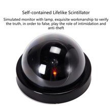 цена на Simulated Surveillance Camera Fake Home Dome Dummy Camera with Flash red LED Light Security camera indoor / outdoor