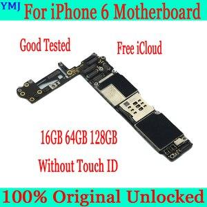 Image 2 - Orijinal unlocked iphone 6 anakart olmadan/ile dokunmatik kimliği iphone 6 4.7 inç için mantık panoları IOS tam fonksiyonlu