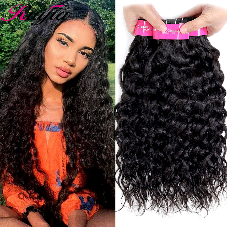 Water Wave Bundles Remy Hair 3 4 Bundles Brazilian Hair Natural Water Wave Wet And Wavy Human Hair Extension Curly Hair Bundles