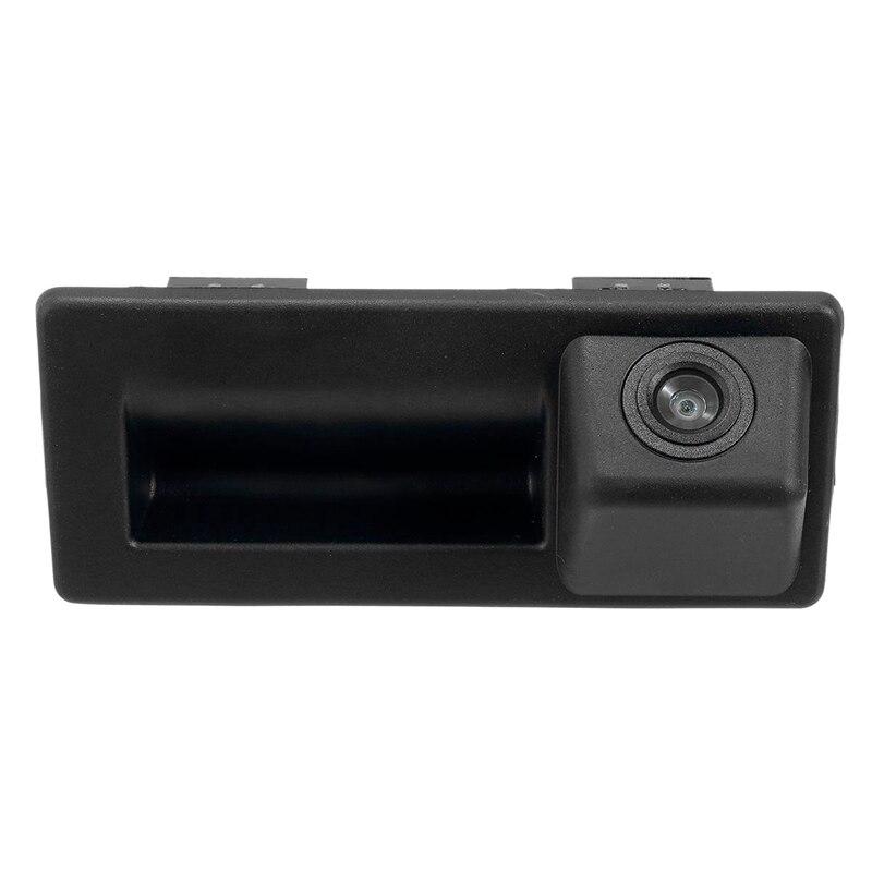 Car Rear Trunk Tailgate Back Door Handle Rear View Backup Camera HD For Skoda Octavia MK3 A7 5E 2014 - 2018 Superb 3