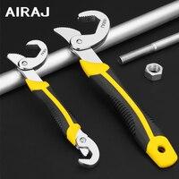 Airaj universal conjunto de ferramentas chave chave ajustável ferramentas manuais do agregado familiar alicate tubulação jardim força segurar ferramentas reparo manual