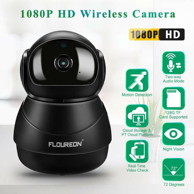 Caméra de surveillance IP Wifi HD 1080P, dispositif de sécurité domestique sans fil, avec codec H.264, 2.0 mégapixels, pour babyphone vidéo infrarouge