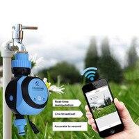 Telefone WIFI Controle Remoto Jardim Temporizadores De Água Controlador Automático de Rega de Irrigação Temporizador Remoto Inteligente para Casa Jardim