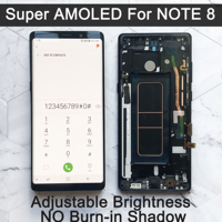 New 6.3 Original SUPER AMOLED Display For SAMSUNG Galaxy NOTE 8 LCD N950 N950F Display For Note8 Touch Screen Replacement Parts Digitizer