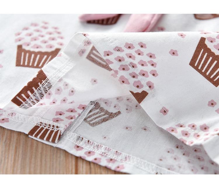 H24e53dfb35264c7c8292fecd6ff8daa5C Humor Bear Girls Clothing Set 2020 Korean Summer New Ice Cream Bow T-shirt+Pants Kids Suit Toddler Baby Children's Clothes