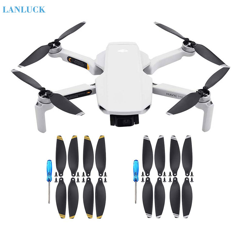 4 Pairs Propellers Foldable Low Noise Blades for DJI Mavic Mini Drone Gold 4pairs