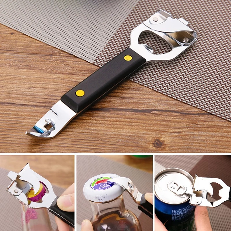Can Opener Stainless Steel Unique Kitchen Tools Household Beer Bottle Opener Open Bottle Starter Cans Drink Bottle Opener