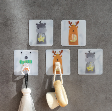 Nordic Animal Strong Adhesive Hook Kitchen Bathroom Wall Stick Hook