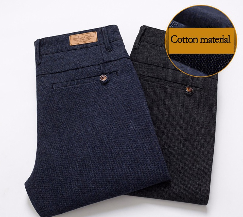 H24e59497dc844d0fbf1d857a296c6cecI HCYX Brand 2019 four season Classic High quality Men's Casual Pants Trousers Men Casual Pants Business Straight Size 38