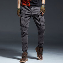 Fashion Streetwear Men Jeans Multi Pockets Slack Bottom Casual Cargo Pants Military Style Trousers Hip Hop Joggers