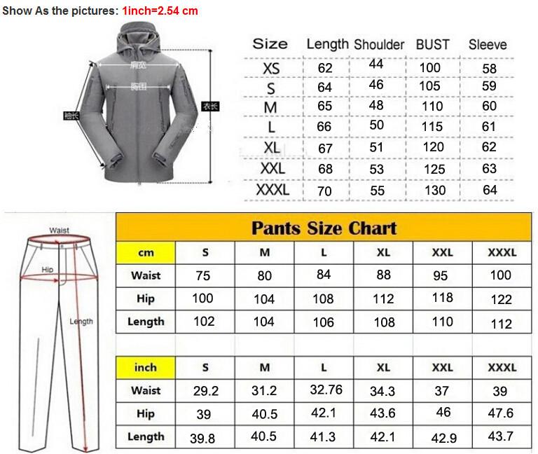 jacket size