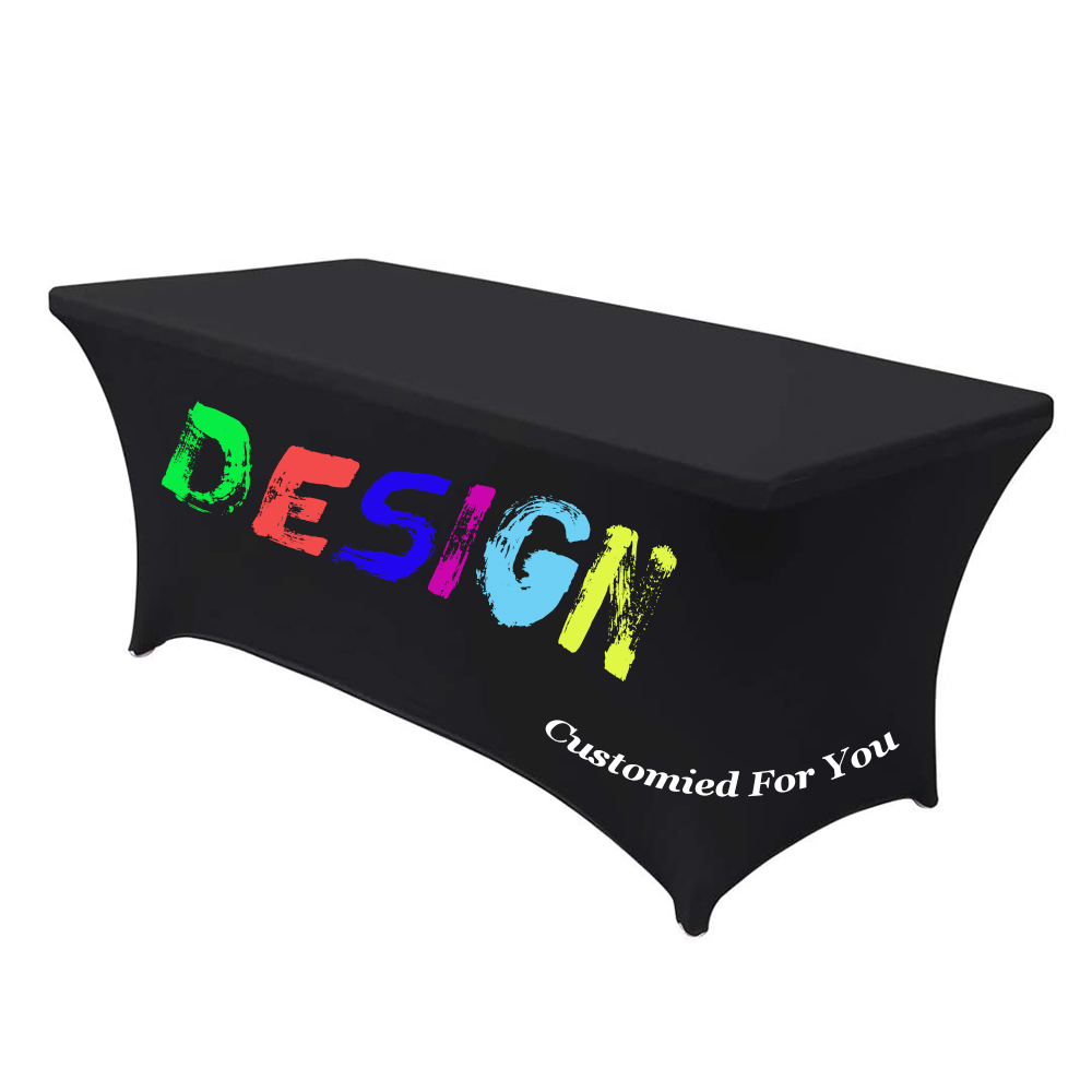 Custom Table cloth Rectangular Table Cloth Fitted Spandex Wedding Party Table Covers Event Stretchable Table cloth,free shippingTablecloths   -