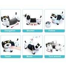 Remote Control Dachshund Dog RC Robotic Stunt Puppy Toys Pet Following Robot M89C