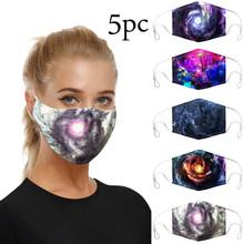 5pc Unisex śmieszne gwiaździste z nadrukiem nieba Cosplay dorosłych pyłoszczelna kostium akcesoria twarz pyłoszczelne maski tanie tanio COTTON NONE Chin kontynentalnych Drukuj mASKS