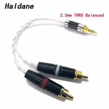 Haldane de alta fidelidad 2,5mm TRRS/4,4mm equilibrado macho de 3,5mm a RCA macho Cable Aux 8x1,0mm de auriculares con Cable Amp