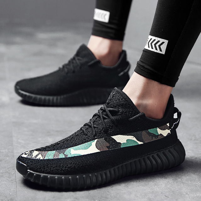 2019 Luxury Brand Camouflage Sneakers Men 39~46 Flyknit Casual Shoes Ultra Boost Boy Shoe Sapato Sport Platform Flats D1087-3