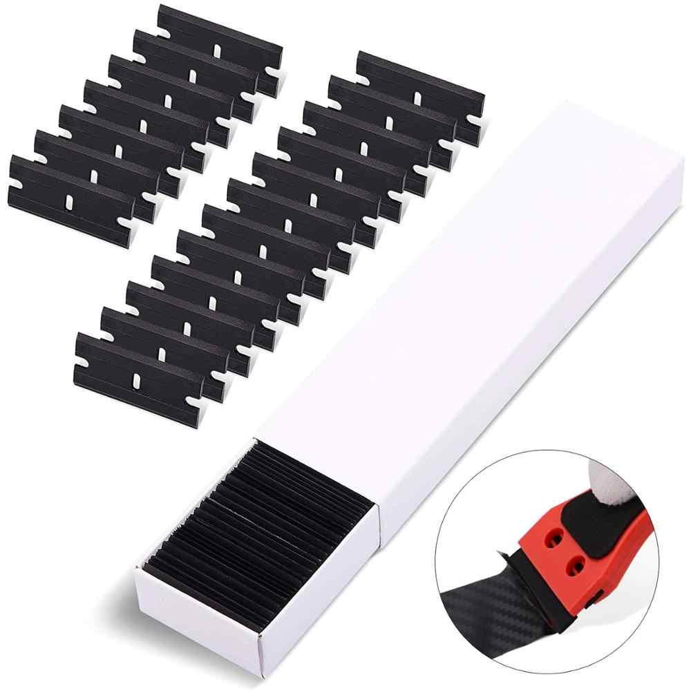 EHDIS çift taraflı siyah plastik bıçak araba vinil filmi Film jilet kazıyıcı çekçek pencere tonu tutkal su temizleme temizleme aracı