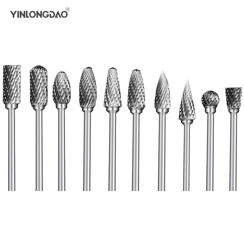 10pcs 1.6mm Burs Set Diamond Grinding Drill Bit Lab Burrs Block For High Speed Rotary Grinder Tool