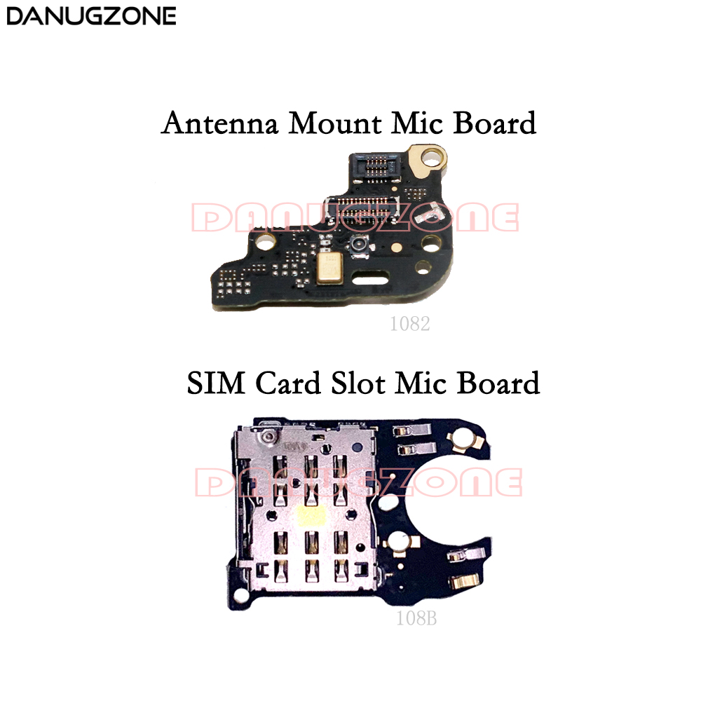 SIM Card Reader Socket Tray Slot Microphone Module Board For Huawei Mate 20 Pro Antenna Connect Signal Board Mic Flex Cable