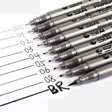 9pcs/Set Waterproof Micron Sketch Marker Pen Professional Needle Drawing Fineliner Sketching Pens Set For Manga Architecture Art
