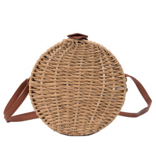 Women Summer Rattan Bag 2019 Round Straw Bags Handmade Woven Beach Cross Body Bag Circle Bohemia Handbag Bali Box Dropshipping купить недорого в Москве