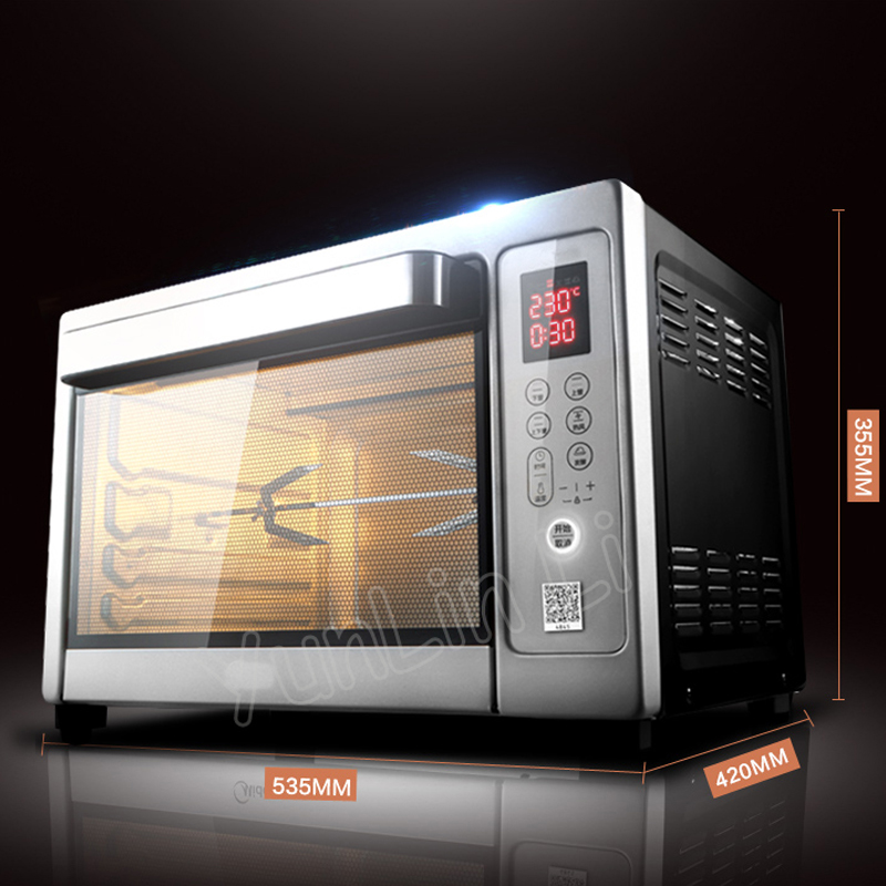38L Intelligent Oven Electric Oven Household Multifunctional Oven Full Automatic Smart Control Baking Machine T7-L384D