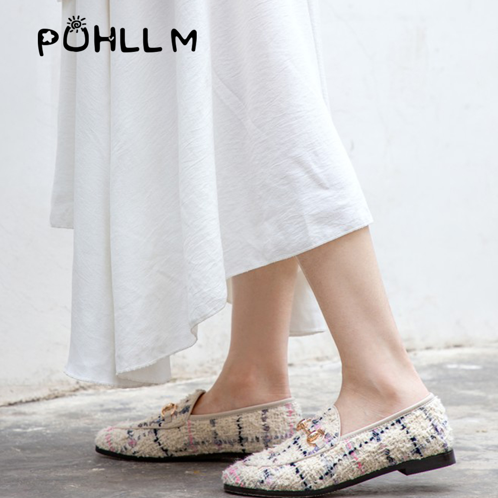 Image 3 - PUHLLM   Pink Falts Shoes Women 2019 Autumn Ladies Falts Shoes Lining sheepskin Round Toe  Fashion Women's Shoes slip ons  D19-in Women's Flats from Shoes