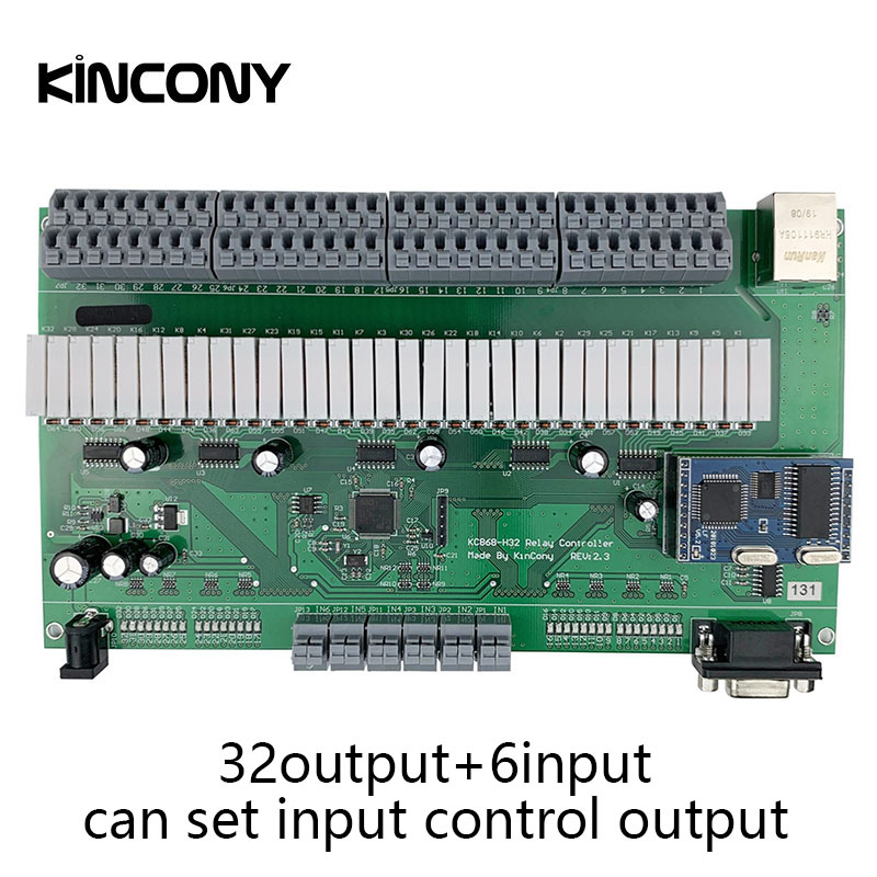 32CH Domotica Automação Residencial Inteligente Samrt Controlador Módulo de Rede Sistema de Segurança Interruptor de Controle de Relé TCP IP Ethernet 32 Gang