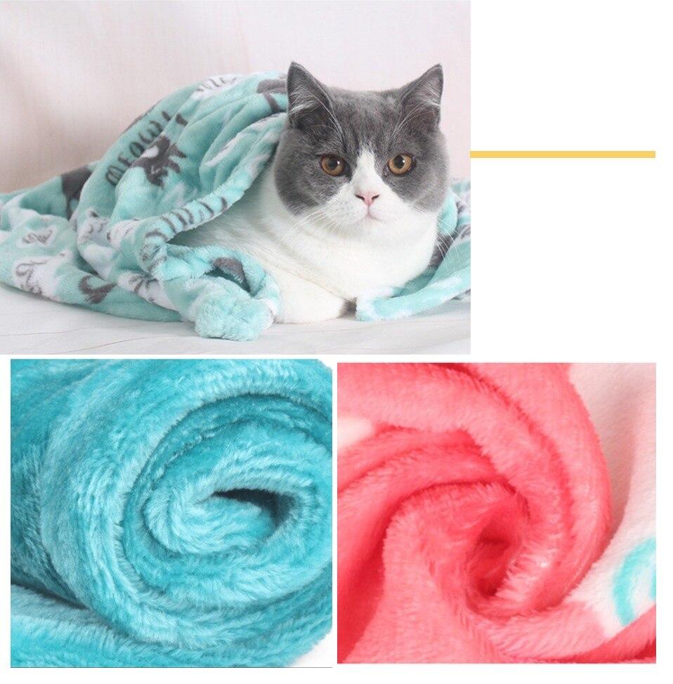 Pet blanket cat Sleeping Mat Coral Fleece Keep warm Blanket Small Medium Dogs Cats Sleeping Winter Dog Cat Bed Mats Pet Supplies 25
