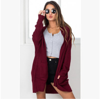 LEH Autumn Winter 2019 Women Cardigan Knit Coat Regular Sleeve Knitwear Cardigan Large Size Sweater Cardigan Female Elegant Coat