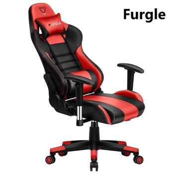 Furgle adjustable office chair ergonomic PU leather boss chair/game armchair 180 recline gaming chair for wcg game competitive - DISCOUNT ITEM  40% OFF All Category