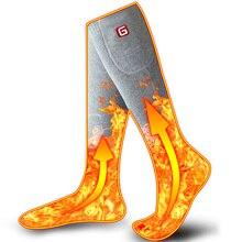Calcetines calientes Unisex del invierno con el Kit eléctrico de la batería recargable para los pies fríos crónicos térmicos calientes que hacen punto los calcetines del algodón