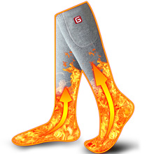 Chaussettes chauffantes unisexe dhiver avec Kit de batterie électrique Rechargeable pour les pieds froids chroniquement thermique chaud tricot coton Sox