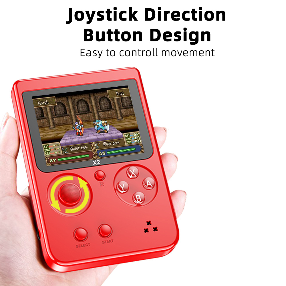"""Retro Game Console Nostalgic Handheld Game Console Built-in 2500 for NES for FC for GBA Games 2.8"""" LCD Children Birthday Gift"""