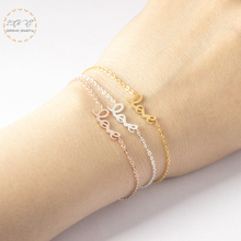 Simple Letter Charm Bangles Women Stainless Steel Love Bracelets Statement Sister Jewelry Gift For Her Bileklik Gold Color