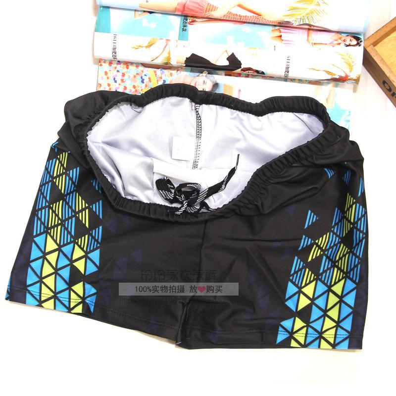 Middle Aged And Elderly People Swimming Trunks Men's Extra-large-Style Hot Springs Plus-sized Flat Connector Loose-Fit Bathing S