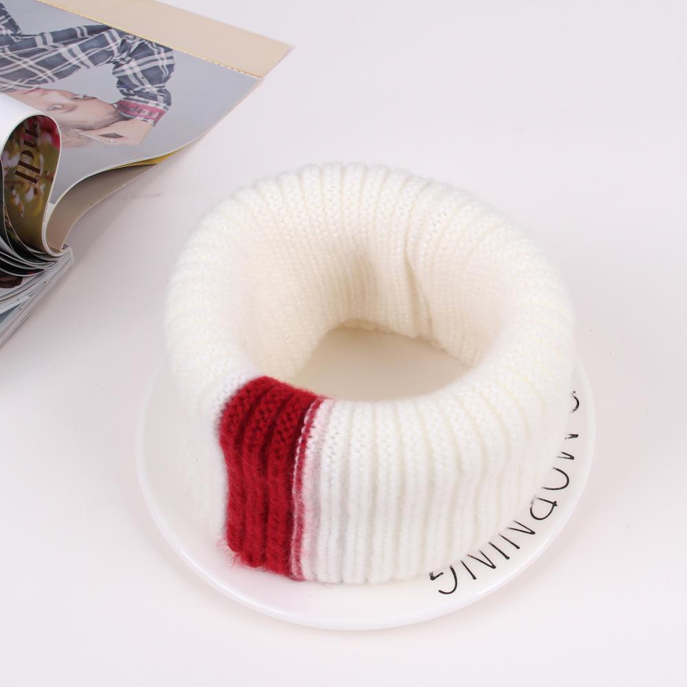 VISROVER/вязаный шарф для девочек и мальчиков, детское кольцо с полосками, безграничный снуд, Детские кашемировые шарфы, Круглый теплый шарф на шею - Цвет: 4