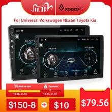 "Podofo 2dinรถวิทยุ9 ""& 10"" 2.5D GPS 2 DIN Android Car Multimedia PlayerสำหรับVolkswagen Nissan kia Toyota Skodaรถสเตอริโอ"