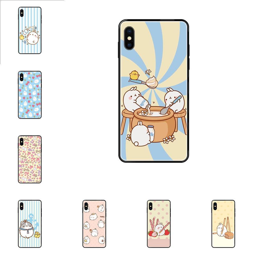 On Sale For Apple iPhone 11 12 Pro X XR XS MAX 5 5S 5C SE 6 6S 7 8 Plus Cute Molang Pop Plastic