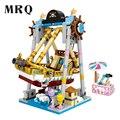 Мини-парк развлечений серии фигурки подарок для девочки DIY игрушка кирпичи игровая площадка прыгающая машина бампер автомобиль игрушки кар...