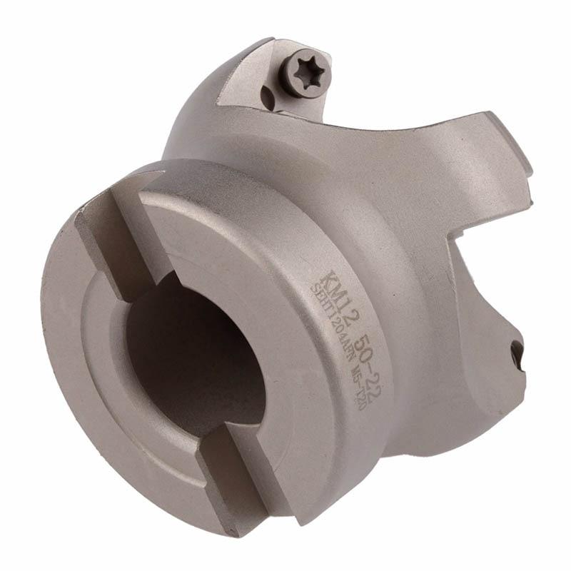 Купить с кэшбэком MT2 M10 FMB22  Holder + SE-KM12-45 degree  face mill cutter KM12 63-22-4T +10pcs SEKT1204 aluminium carbide inserts