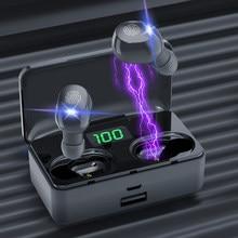 TWS Bluetooth 5.1 kulaklık 4200mAh şarj kutusu kablosuz kulaklık 9D Stereo spor su geçirmez kulaklıklar kulaklıklar mikrofon ile