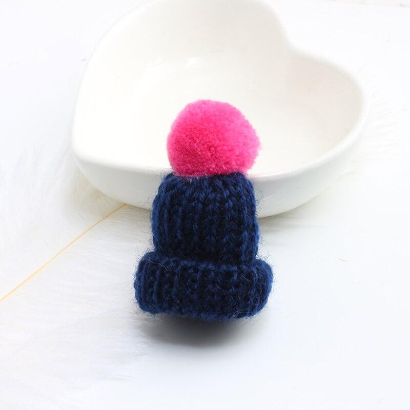 Нагрудные булавки брошь для женщин Милая Мини вязанная Hairball брошь «шляпа» булавка для свитера куртки значок ювелирные изделия шерстяной шар DIY подарок для женщин и девочек - Окраска металла: rose-black